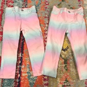TWINS!! TCP Ombre pull on leggings!